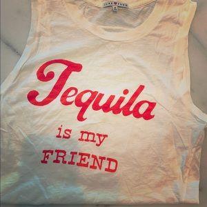 JUNKFOOD + TEQUILA IS MY FRIEND MUSCLE TEE MED
